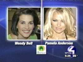 Speaking of celebrities, a facial recognition website took Wendy's picture and matched her with … Pamela Anderson??
