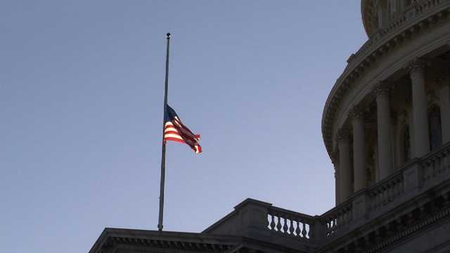 Sandy Hook Connecticut shooting, capitol flag at half staff