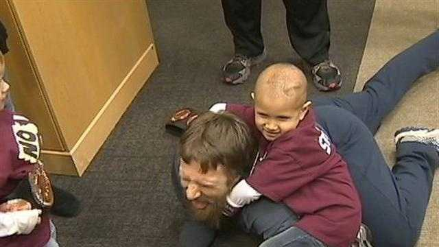 Boy with Cancer Meets Daniel Bryan