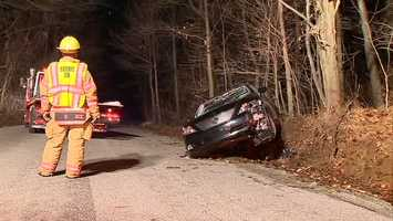 The driver of a wrecked car was pulled out and taken to the Murrysville police station early Wednesday.