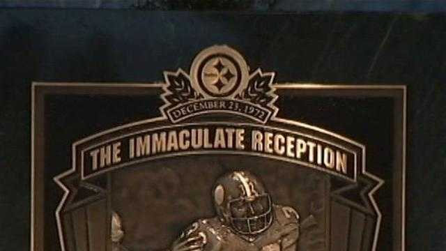 Steeler fans celebrate immaculate reception's 40th anniversary