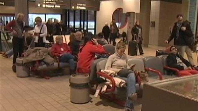 travelers at Pittsburgh International Airport