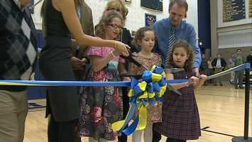 Shady Side Academy dedicated the basketball court at the school's Mellon Gym in honor of former star Peter Sauer.