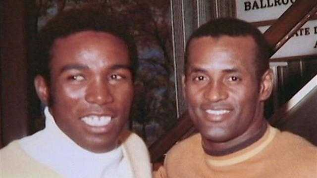 Manny Sanguillen and Roberto Clemente