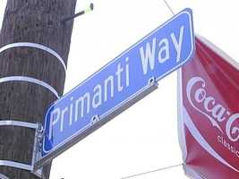 """The Strip is so closely associated with Primanti Bros. that 18th Street was given the honorary name of """"Primanti Way"""" on the restaurant's 75th anniversary."""