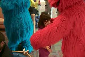 "They're in town with the rest of the Sesame Street gang for ""Elmo Makes Music"" at the Consol Energy Center."