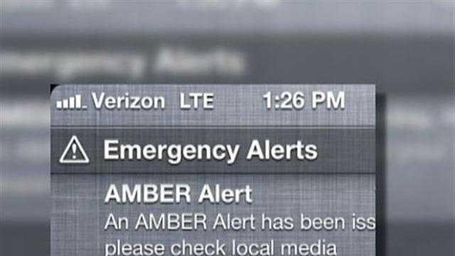 img-Amber Alert on cellphone