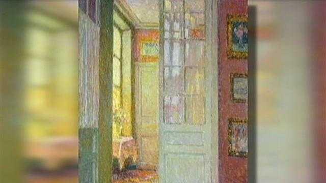 "Henri Le Sidaner's ""Interior"""