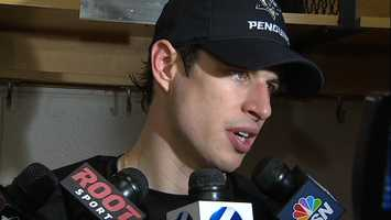 #87 Penguins Center & Team Captain, Sidney Crosby post game