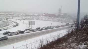 Traffic was at a standstill on Interstate 376 (Parkway West) in Robinson Township.