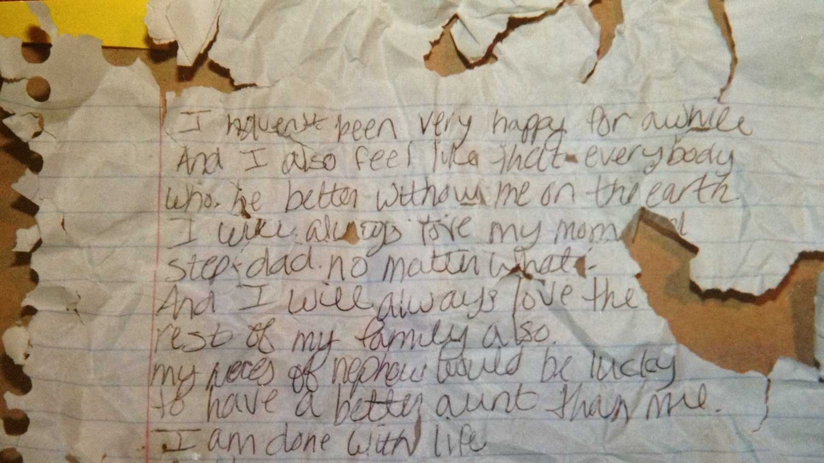 fake suicide note