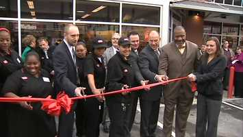 Mayor Luke Ravenstahl and Councilman Bruce Kraus took part in a ribbon cutting ceremony.