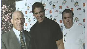 "Bruno Sammartino and ""The Incredible Hulk"" Lou Ferrigno"