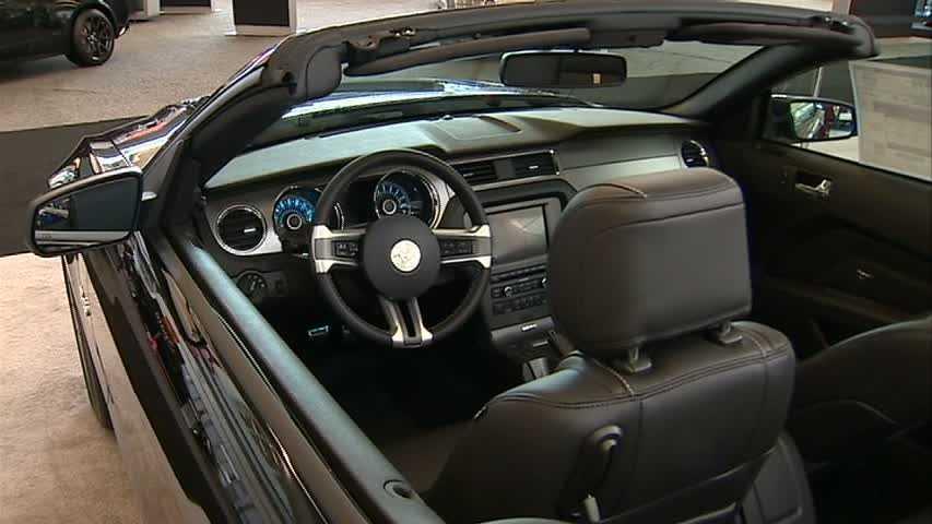 Black mustang convertible