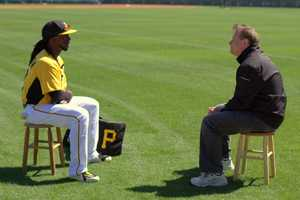 Action Sports' Guy Junker interviews Pirates All-Star outfielder Andrew McCutchen