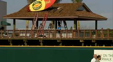 The centerpiece of the renovations is a new 19,000 square-foot wooden boardwalk that circumnavigates the entire outfield.