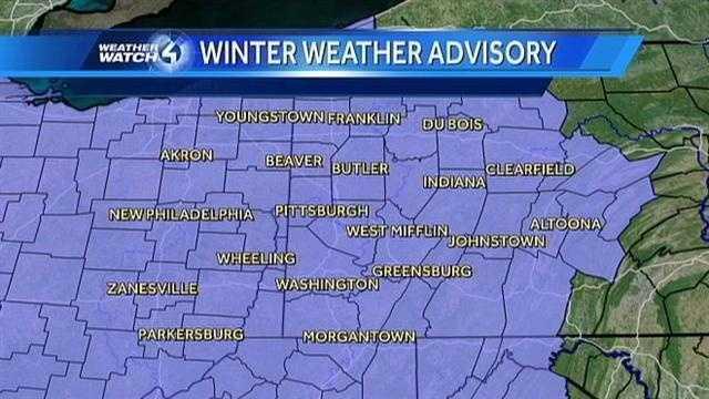 Winter Weather Advisory Map