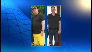 At 50 years old, Chuck Haenig has dropped 70 pounds. His waistline has also shrunk from 41 inches to 34.