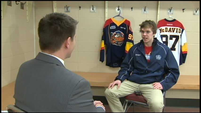 Connor McDavid interview with John Meyer