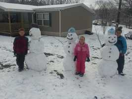 Fun in the snow in Kittanning.