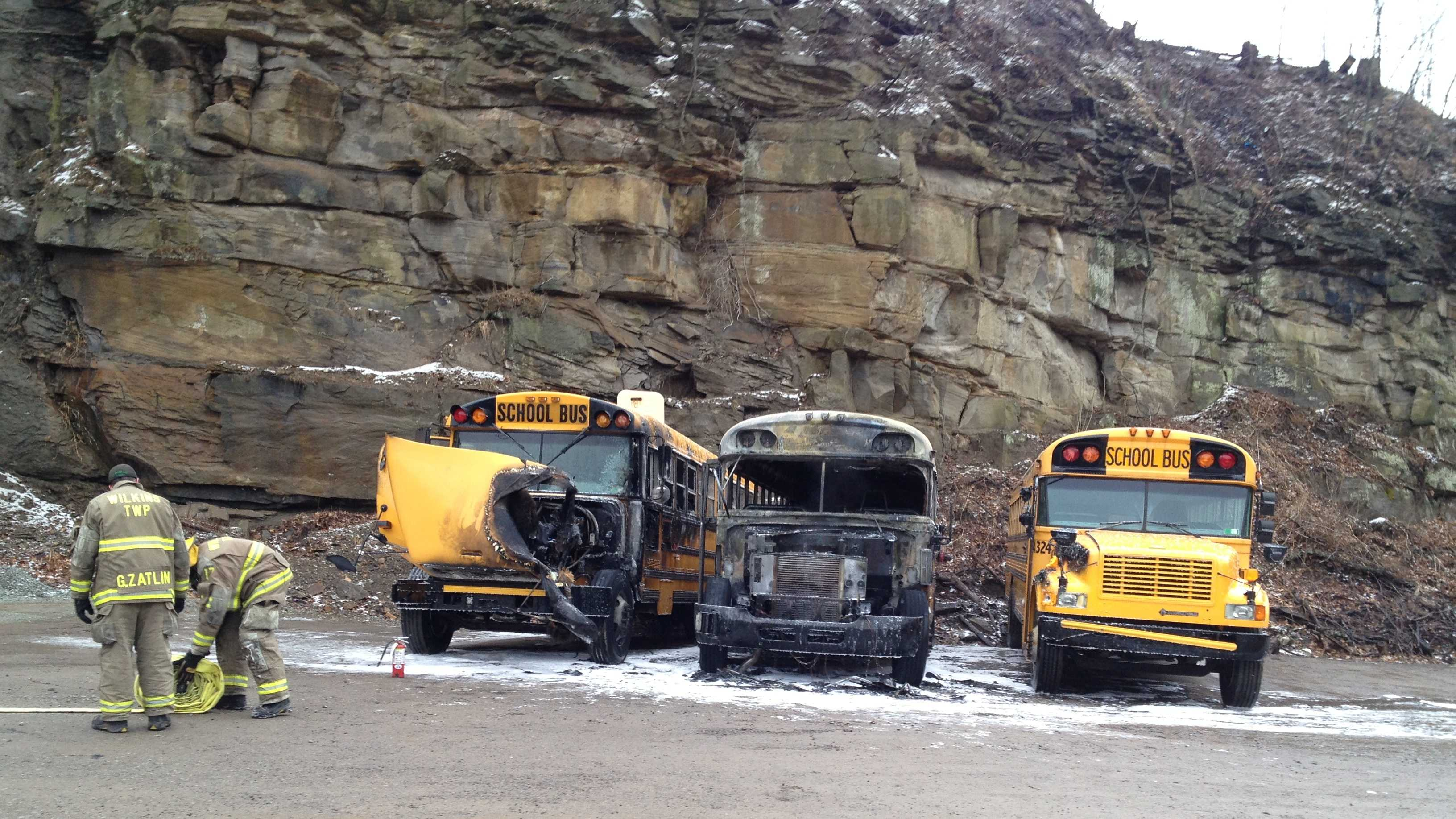 Wilkins Township bus fire