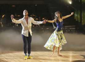"""Zendaya & Val Chmerkoskiy - """"Dancing with the Stars"""" was back with an all-new cast of fresh faces hitting the dance floor. The competition began with the two-hour Season 16 premiere, live on Monday, March 18th. (ABC/Adam Taylor)"""