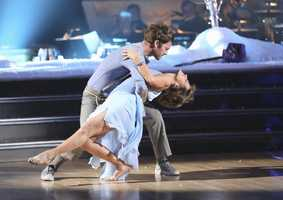"""Dorothy Hamill & Tristan MacManus - """"Dancing with the Stars"""" was back with an all-new cast of fresh faces hitting the dance floor. The competition began with the two-hour Season 16 premiere, live on Monday, March 18th. (ABC/Adam Taylor)"""