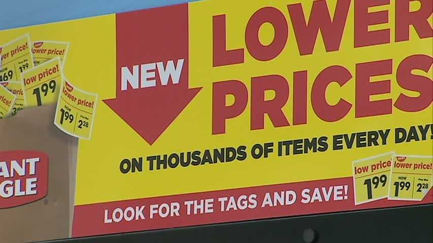 Giant Eagle lower prices