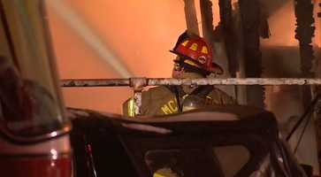 The fire started around 1:30 a.m. on Banker Street.