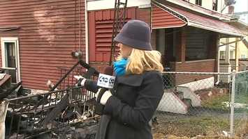 WTAE Channel 4 Action News reporter Amber Nicotra shows viewers the fire damage in McKeesport. (Watch the video.)