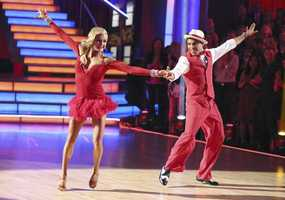 "Victor & Lindsay - The competition heats up on ""Dancing with the Stars"" as the celebrities take on new dance routines and fight for survival. The couples performed a Jive, Quickstep or Jazz routine. (Photo: ABC/Adam Taylor)"