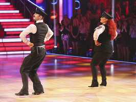 "Wynonna & Tony - The competition heats up on ""Dancing with the Stars"" as the celebrities take on new dance routines and fight for survival. The couples performed a Jive, Quickstep or Jazz routine. (Photo: ABC/Adam Taylor)"