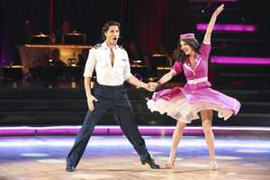 "Lisa & Gleb - The competition heats up on ""Dancing with the Stars"" as the celebrities take on new dance routines and fight for survival. The couples performed a Jive, Quickstep or Jazz routine. (Photo: ABC/Adam Taylor)"