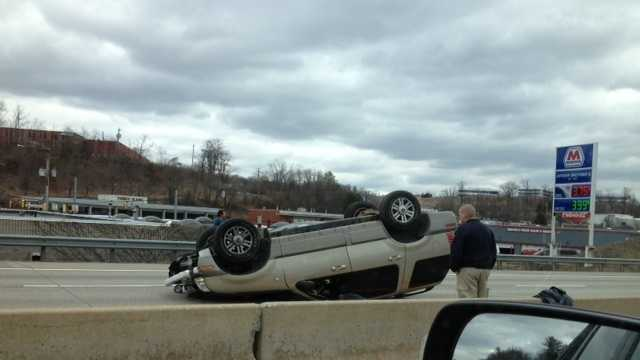 Parkway West rollover 1