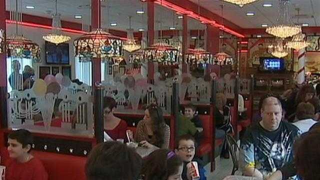 customers at Sarris Candies