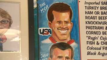 McCoy and Wirt were honored at Primanti Bros. when their images were unveiled on a mural featuring famous faces in Pittsburgh history.