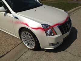 Residents in Brentwood woke up Friday morning to find their cars spray painted.
