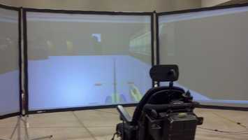 A wheelchair simulator