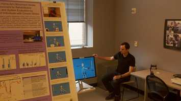 The Home Arm Movement Stroke Training Environment for Rehabilitation (HAMSTER) helps exercise upper mobility, like a game, to help stroke patients keep upper mobility.