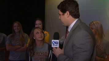 Action Sports' Justin Rose interviews Carmichaels sophomore softball pitcher Erica Burns.