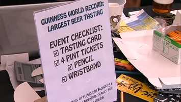 Participants had to sample four beers supplied by Flying Dog Brewery and rate them on a card.
