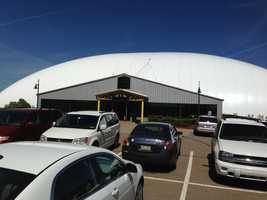 The golf dome at the RMU Island Sports Center