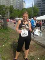 WTAE Channel 4 Action News' Ashlie Hardway after finishing the Pittsburgh Half Marathon