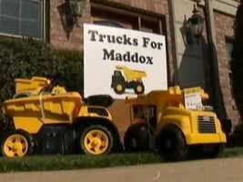 Drop boxes for the Trucks for Maddox toy drive are located across the Pittsburgh region. Go to trucksformaddox.org for more information.