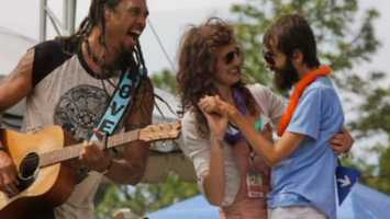 One of those trips took them to a music festival, where they got to meet singer Michael Franti. Hope messaged Franti, who told the couple that he was moved after reading about their story online. They got to watch the show from the stage and Franti even brought them out in front of the crowd.
