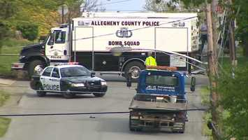 On Wednesday, the Allegheny County Bomb Squad was back on Marshall Avenue when another suspicious device was found.