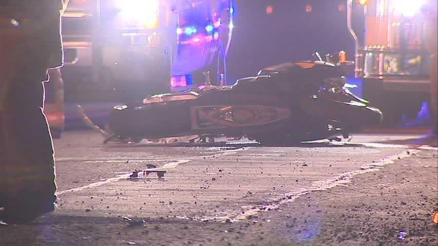 Turnpike motorcycle crash