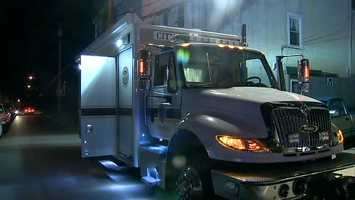A truck from the Pittsburgh Police Bomb Squad.
