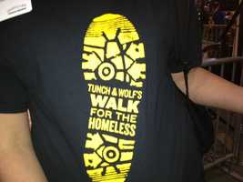 A T-shirt for Tunch & Wolf's Walk for the Homeless.