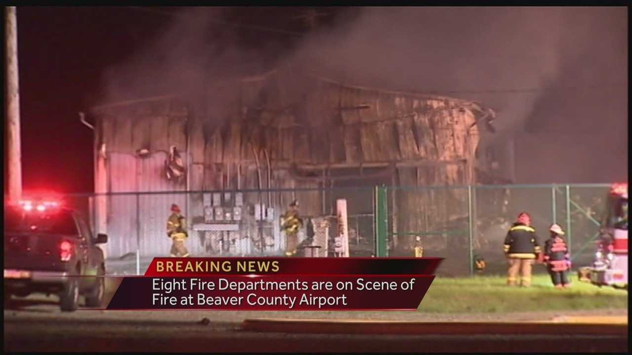 Fire Erupts at the Beaver County Airport